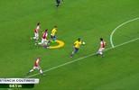 Coutinho e Neymar percorrem longas distâncias em lances de gol do Brasil