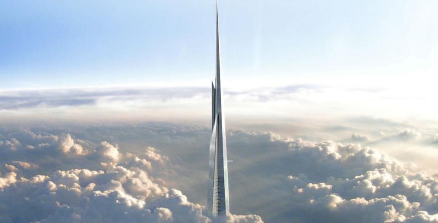 Simulação do topo do prédio: 1 km em direção ao espaço (Foto: Divulgação)