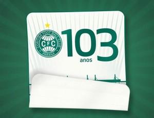 Logomarca dos 103 anos do Coritiba esconde surpresa anunciada pela diretoria (Foto: Divulgação / Site oficial do Coritiba)