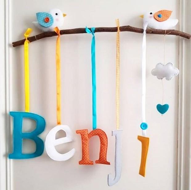 Enfeite do quarto de Benjamin na maternidade (Foto: Reprodução/Instagram)