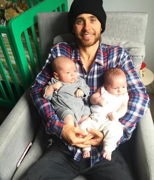Jared Leto e sobrinhos (Foto: Reprodução)