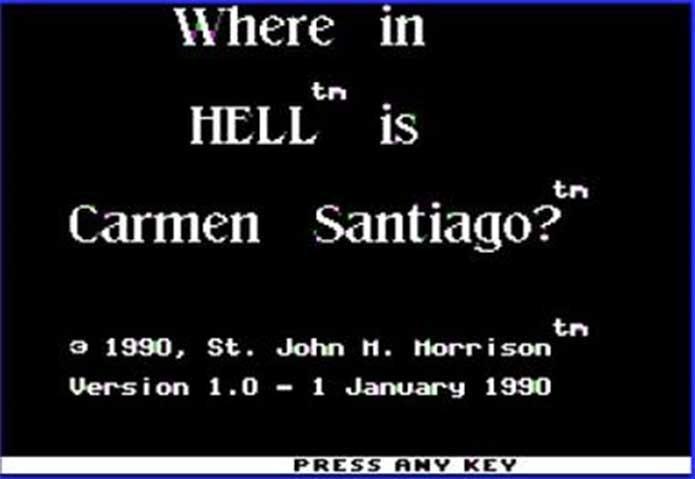 Carmen Sandiego também teve versões não-oficiais (Foto: Reprodução/St. John M. Morrison)