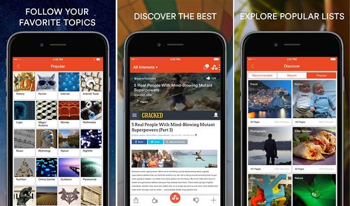 StumbleUpon é um serviço que ajuda achar páginas interessantes na Internet (Foto: Divulgação/App Store)