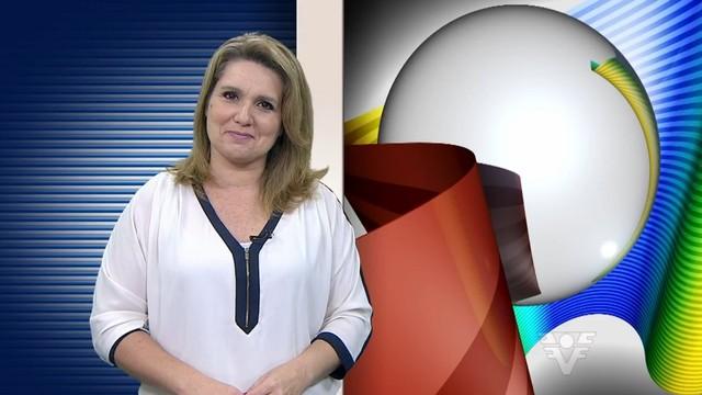 Vanessa Faro apresentando o Tribuna Esporte (Foto: Reprodução/TV Tribuna)