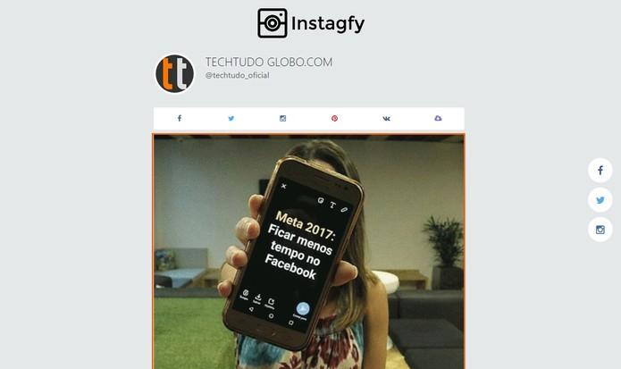 Visualize seu GIF com as fotos mais populares do Instagram (Foto: Reprodução/Barbara Mannara)