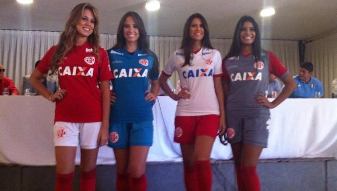 Novos uniformes do América-RN (Foto: Diego Simonetti/Cedida)
