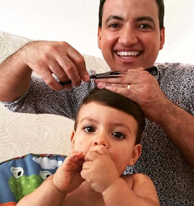 Rodrigo Cintra e o filho, Vinícius (Foto: Divulgação)