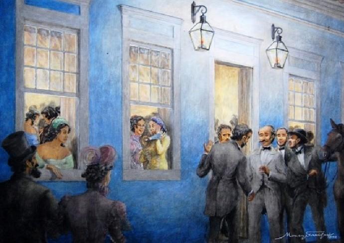 Exposição 'Mato Grosso: História, Memória e Arte' traz obras dos artistas Moacyr de Freitas e Humberto Espíndola (Foto: Natália Nogueira/ Divulgação)