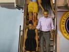 Obama chega ao Havaí para passar o fim do ano