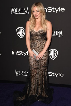 Hilary Duff em festa em Los Angeles, nos Estados Unidos (Foto: Jason Merritt/ Getty Images/ AFP)