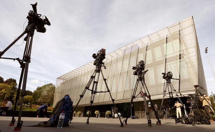 Sede da Fifa em Zurique - coletiva cancelada (Foto: Arnd Wiegmann / Reuters)