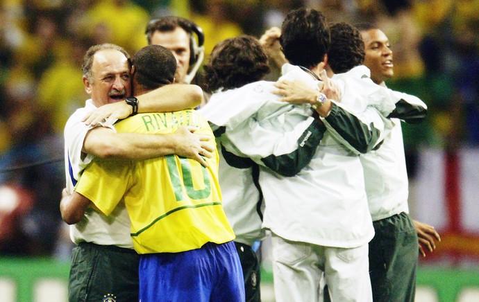 Luiz felipe scolari felipão copa do mundo 2002 brasil seleção brasileira (Foto: Getty Images)