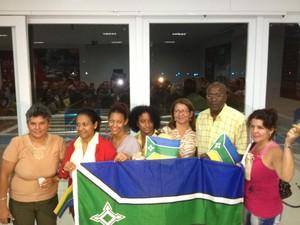 Médicos estrangeiros vindos para o Amapá (Foto: John Pacheco/G1)