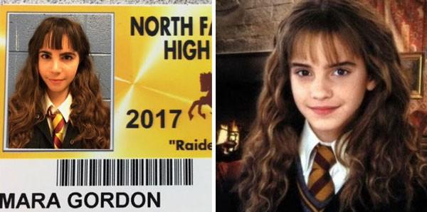 Nada de ser Trouxa. A estudante optou o estilo feiticeira de Hermione Granger (Foto: Reprodução)
