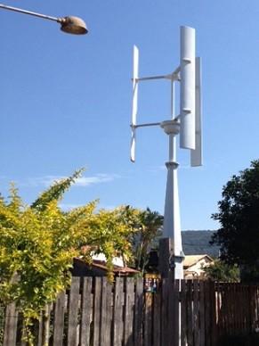 Para funcionar, o aerogerador deve estar acima das árvores (Foto: Divulgação/ Enersud)