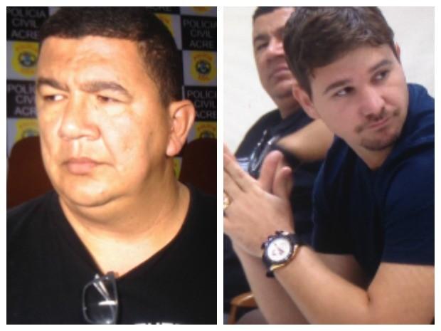 Diretor executivo Daniel Gomes (à esquerda) e diretor social Marcos Huck (à direita) foram presos durante Operação Lares (Foto: Reprodução/Rede Amazônica Acre)