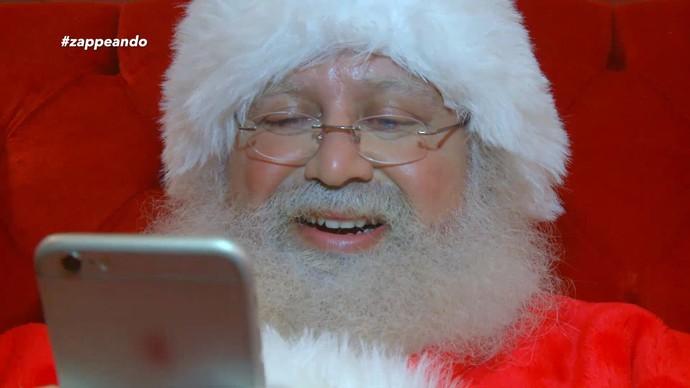 'Zappeando' mostra Papai Noel conectado às redes sociais (Foto: Rede Amazônica)