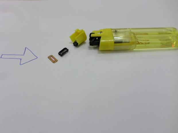 Aparelho de raios-x não detectou a presenção dos acessórios dentro dos isqueiros (Foto: Cedida/SAP)