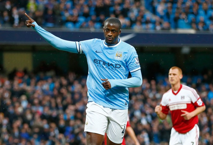 Yaya Toure gol Manchester City (Foto: Reuters)