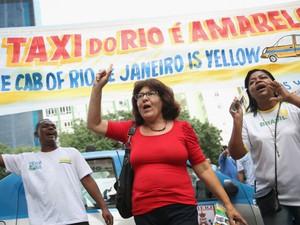 Uber foi alvo de protestos no Rio e também em outras cidades do mundo. (Foto: Getty )