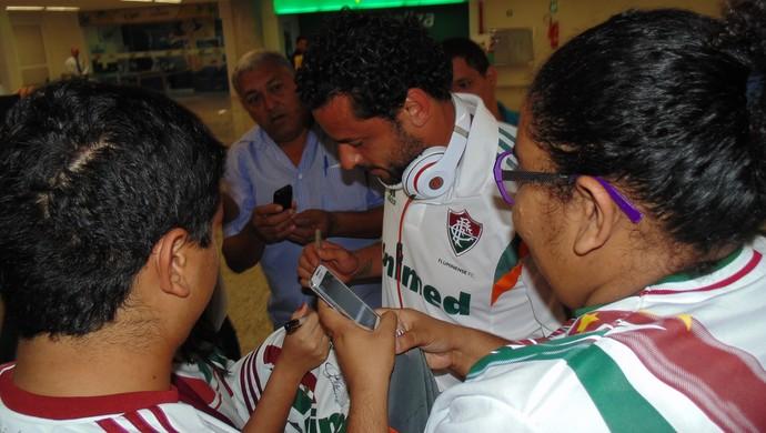 Fred, atacante do Fluminense em Natal (Foto: Klênyo Galvão)