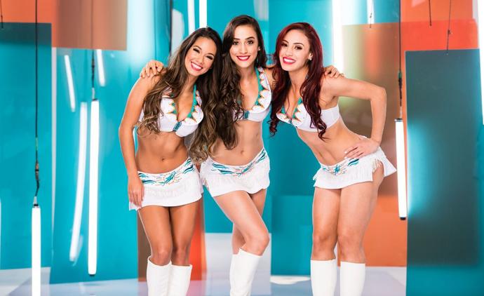 Vera, Erica e Ana: as cheeleaders brasileiras do Miami Dolphins (Foto: Divulgação)