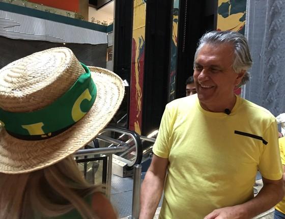 O senador Ronaldo Caiado, no Hotel Maksoud, próximo à Avenida Paulista, neste domingo, 13 de março (Foto: Vinicius Gorczeski/ÉPOCA)