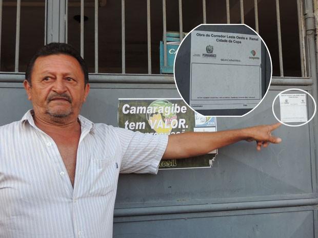 Em 2013, durante visita da relatora da ONU a Camaragibe, o G1 entrevistou o mecânico Nelson Gregório, que estava sendo desapropriado e ainda não tinha recebido a indenização (Foto: Luna Markman/G1)