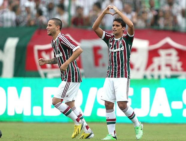 Jean comemoração Fluminense Boavista (Foto: Ricardo Ayres / Photocamera)
