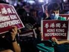 Milhares de manifestantes protestam pela independência de Hong Kong