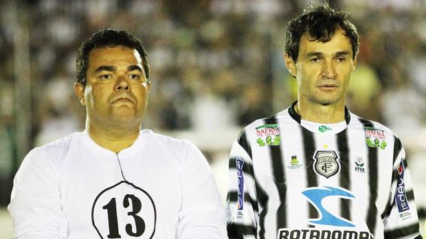 Eduardo Medeiros (presidente do Treze) e Romero Rodrigues (prefeito de Campina Grande) (Foto: Magnus Menezes / Jornal da Paraíba)