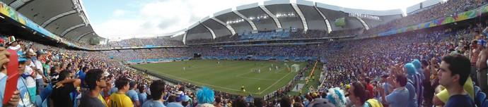 Arena das Dunas - Itália x Uruguai (Foto: Augusto Gomes/GloboEsporte.com)