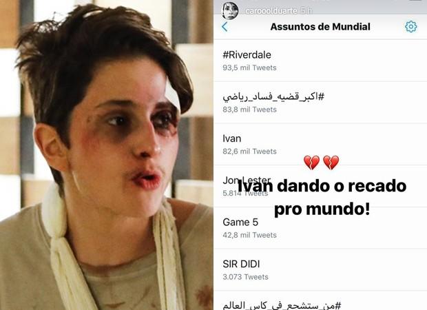 Carol Duarte fala sobre repercussão de agressão de Ivan (Foto: Reprodução/Instagram e Divulgação/TV Globo)