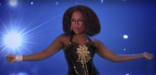 Montagem de Oprah Winfrey na paródia de Magic Mike (Foto: Reprodução)
