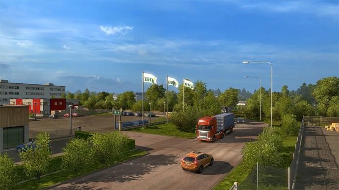 Euro Truck Simulator 2 terá mais reproduções de locais reais no DLC da Escandinávia (Foto: CarGamingBlog)