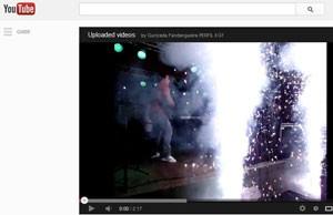 Vídeo publicado em canal do YouTube do Gurizada Fandangueira mostra efeitos pirotécnicos (Foto: Reprodução/YouTube)