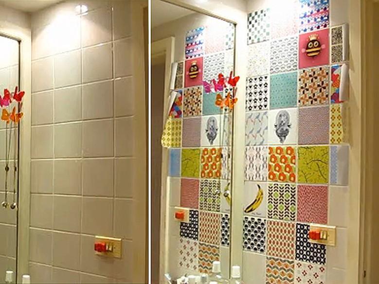 Armario Mdf Quarto ~ Cozinha e banheiro de cara nova use adesivos de azulejo Casa GNT