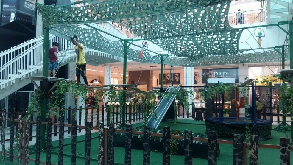 Arvorismo é uma das atrações do Shopping Parangaba (Foto: Shopping Parangaba/Divulgação)