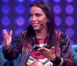 Anitta se explica no 'Tamanho Família' (Foto: TV Globo)