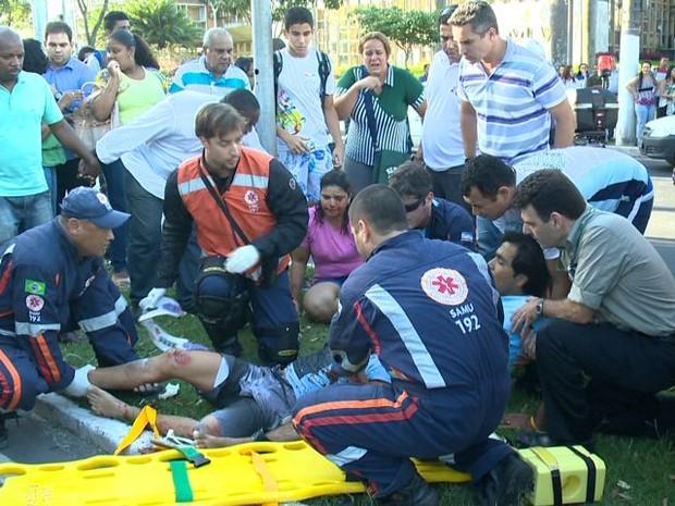 Nadador atropelado em Vitória (Foto: Reprodução / TV Gazeta)