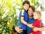 'Ser pai é uma grande aventura', diz Mário Frias, ao lado de Laura e Miguel
