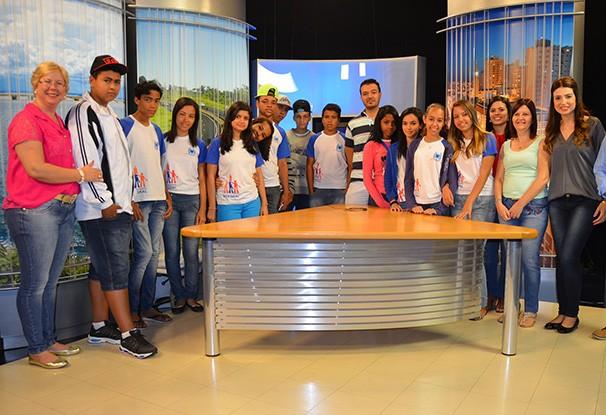 Alunos do colégio Placídio Braga Nogueira, de Presidente Prudente (Foto: Marketing / TV Fronteira)
