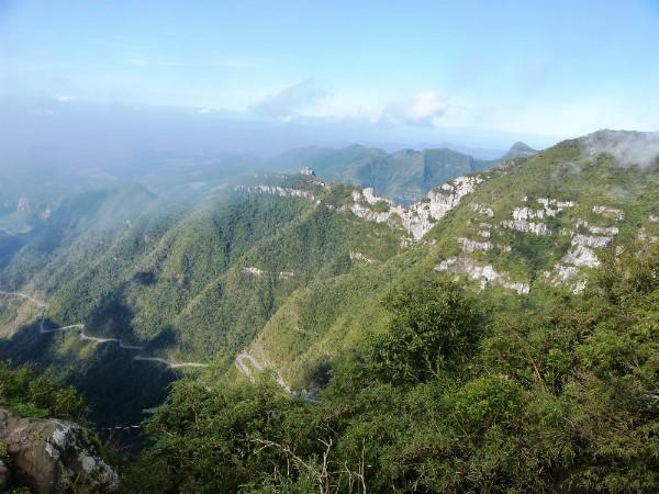 A Serra do Rio do Rastro foi o lugar preferido visitado pela repórter Jordana Pires (Foto: Jordana Pires/RBS TV)