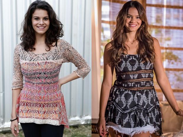 A semelhança entre a atriz e Bruna Marquezine chama atenção (Foto: Inácio Moraes / Paulo Belote / TV Globo)