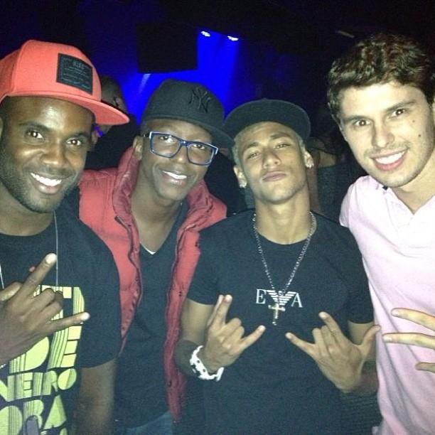 Neymar, Rafael Zulu, Bruninho e Mumuzinho (Foto: Reprodução  / Instagram)