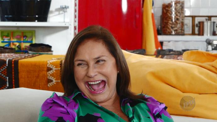 Com sua famosa risada, Fafá anima o Mais Caminhos deste sábado (02) (Foto: reprodução EPTV)