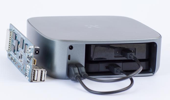 Monument possui entrada para até dois HDs externos via USB 2.0 (Foto: Reprodução/Kickstarter)