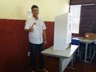 Candidato do 2º turno, Clécio Luis, vota nesta manhã em Macapá, AP