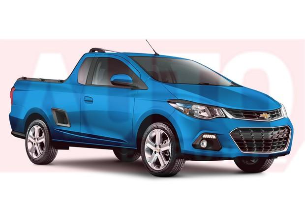 Projeção-Facelift-Chevrolet-Montana (Foto: Divulgação)