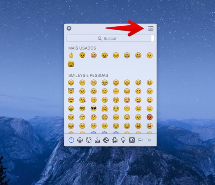 Abrindo o menu de símbolos do Mac OS X (Foto: Felipe Alencar/TechTudo)